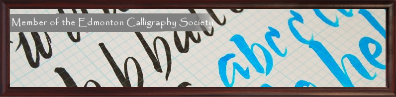 Proud Memeber of the Edmonton Calligraphic Society